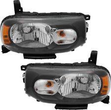 Halogen Headlights Headlight Assembly w/Bulb Pair Set for 09-14 Nissan Cube