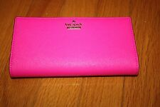 New w/ Tag Kate Spade Leather Bi-Fold Wallet Cameron Street Peony Pink SHIP FREE