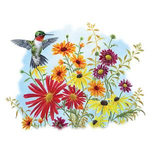 Hummingbird Bouquet  w/Wildflowers  Tshirt    Sizes/Colors