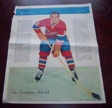Marcel Bonin La Patrie Du Dimanche photo Montreal Canadians 1961-62