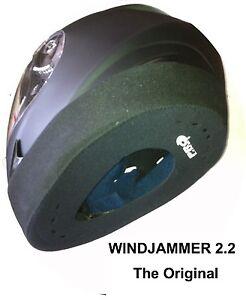 WINDJAMMER PROLINE, Helmet Wind Blocker for Motorcyclists (P&P Free Worldwide)