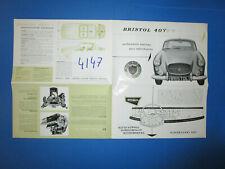 N°4147  / dépliant BRISTOL 407 moteur 5.2  texte français  octobre 1961