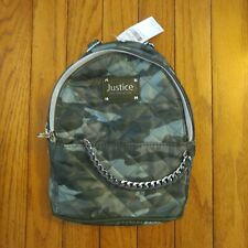 NWT Justice Camo Quilted Mini Backpack With Tassle