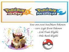 Pokemon Ultra Sun and Moon Birthday Eevee Event Pokemon Special Move Celebrate