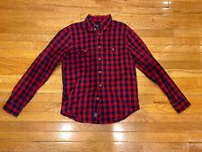 Mens Abercrombie And Fitch Button Down Plaid Flannel Shirt Size M EUC