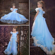 Kids Disney Princess Cosplay Dresses Cinderella Dress Costume Party Dresses*