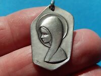 MEDAILLE   ARGENT MARIE LOURDES  SOLID SILVER SIGNEE TIA  THFR