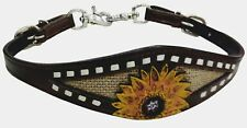 Showman Leather Wither Strap w/ Sunflower Accent & Burlap Inlay