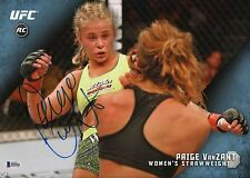 Paige VanZant Signed UFC 2015 Topps Knockout 10x14 Rookie Card BAS COA RC #1/1