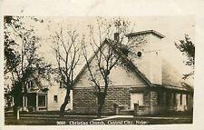 Central City Nebraska~Christian Church~House Next Door~1909 Real Photo Postcard