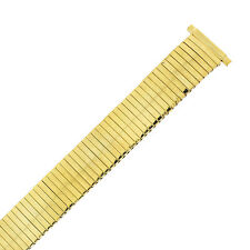 Tech Swiss TSMET206 Watch Band Expansion Metal Stretch Gold Plated 16mm - 20mm