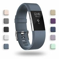 For Fitbit Charge 2 Replacement Wristband Wrist Watch Band Accessory  S L Slate