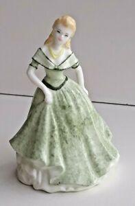 Vintage Retired Coalport Figurine -  Gorgeous Small Lady