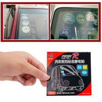 3 pcs Car Window Windshield Static Cling Clear Replacement Sticker Decal Support