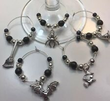 2 Spooky Wine Charms,Choose How Many & Charms,Halloween /Harry Potter Charm Gift