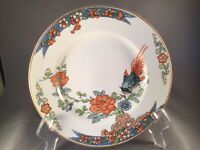 """ANTIQUE WOOD & SONS CHINA 7"""" SALAD PLATE """"BIRD OF PARADISE"""" PATENTED MARCH 1917"""