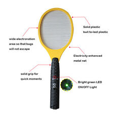 Without Battery Electric Pest Bug Kill Fly Zapper Mosquito Swatter Killer Racket