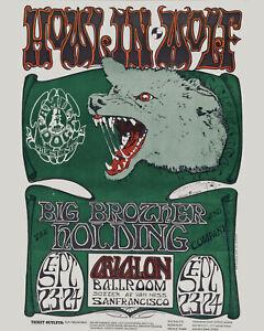 Howlin Wolf (Chester Arthur Burnett) Concert Poster (1966), 8x10 Wall Art Photo