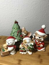 Vintage Homco set of 4 Christmas figurines