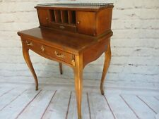 Vintage Baker Ladies French Writing Desk With Brass Gallery Secretary Louis Xv