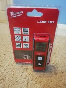 GENUINE MILWAUKEE LDM30 DIGITAL LASER RANGEFINDER 0.15-30M WORKSHOP BUILDING