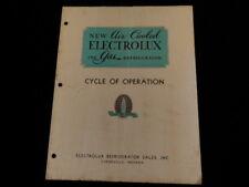 Vintage 1922 Electrolux Gas Refrigerator Booklet Evansville Indiana  A74