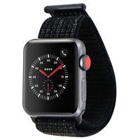 Apple Watch Nike+ Series 3 (GPS + LTE) 38mm Space Gray Aluminum Case Black Loop