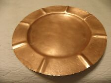 Vintage scalloped copper tray, marked Sleepy Hollow Craftsmen # 15