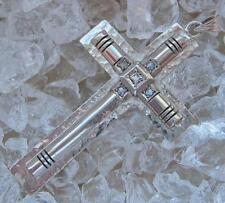Diamant Kreuz mit Diamanten in aus 800er Silber Antik Gebet Glaube Kruzifix
