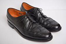 Florsheim Longwing Kenmoor Brogue Wingtip Black Pebble Leather Shoes Mens sz 11C