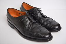 VTG Florsheim Imperial Longwing Kenmoor Wingtip Black Leather Shoes Mens sz 11C
