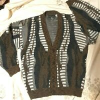 Men's Vintage 1980's Coogi-style Cardigan Sweater (M/L)