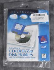 Avery 73721 CD DVD ZIP Disk Holders 10 Pack L12