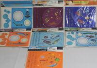 Mandala Spiral Disc Stencil Set Spirograph Artist Alphabet Numbers Animals