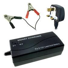 3000mA / 3A Automatic Smart Charger for 6V & 12V SLA Sealed Lead-Acid Batteries