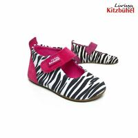 Living Kitzbuhel Boiled No-Itch Wool Ballerina Kids Youth Slipper Shoes Gray Owl