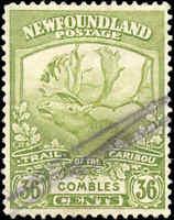 1919 Canada Used Newfoundland 36c F-VF Scott #126 Stamp
