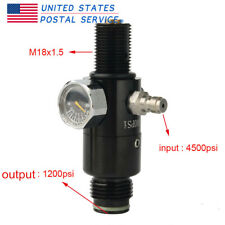 4500psi Valve M18x1.5 Regulator 1200psi Output Pressure Pcp Paintball Air Tank