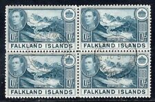 FALKLAND ISLANDS 1938/46 STAMP Sc. # 91 USED BLOCK OF FOUR