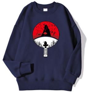 Itachi Uchiha Akatsuki Unisex Long Sleeve Sweatshirt High Quality NarutoAnime