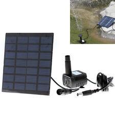 Hot Solar Panel Powered Water Feature Pump Garden Pool Pond Aquarium Fountain 1X