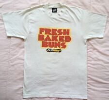 Subway Sandwiches Fresh Baked Buns Tee Shirt Vintage 80s 90s Humor Funny Sexual