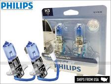 2X New! H3 PHILIPS Crystal Vision Ultra 4000K HID LOOK Upgrade 12V 55W 12336CVB2