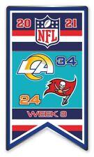 2021 Semaine 3 Bannière Broche NFL Los Angeles Rams Vs. Tampa Bay Super Bol