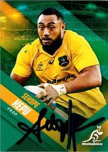 ✺Signed✺ 2017 WALLABIES Rugby Union Card Card SEKOPE KEPU
