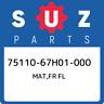 75110-67H01-000 Suzuki Mat,fr fl 7511067H01000, New Genuine OEM Part