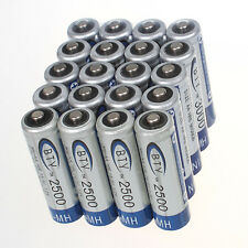 Pro 20pcs BTY 2500mAh 1.2 V Ni-MH rechargeable battery AA for MP3 RC Toys Camera