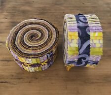 Batik Jelly Roll - Purple & Yellow - Free Shipping!!