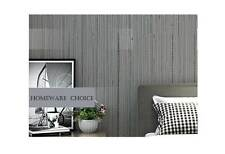 Modern textured Striped GREY wallpaper Industrial Shop fitting wall paper roll