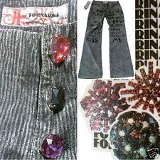 Fornarina Club More Graffiti Kiss Me Corduroy Trousers Jeans 27/34 W27 L34